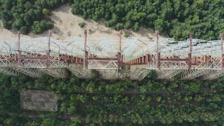 Abandoned radar station by Chernobyl