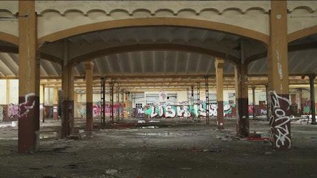 Abandoned warehouse ruins
