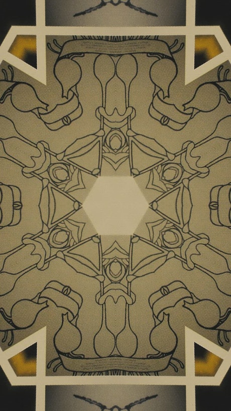 Abstract artwork through a kaleidoscope