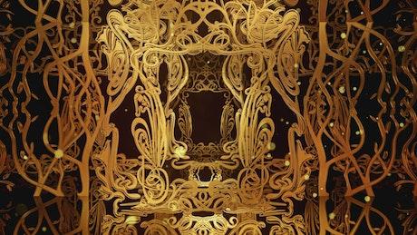 Abstract classic golden frames, 3D render