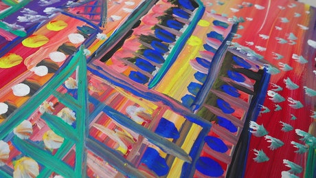 Abstract painting done by hand