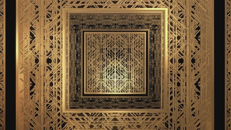 Abstract video of 3D gold plates
