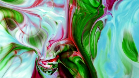 Abstract video of colored ink flowing