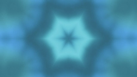Abstract video of figures in blue and green tone