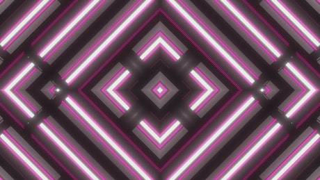 Abstract video of moving pink illuminated frames