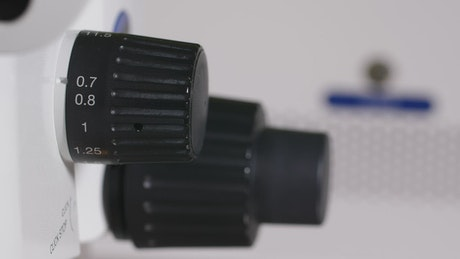 Adjusting the zoom on a microscope