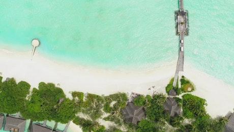 Aerial Beach landscape