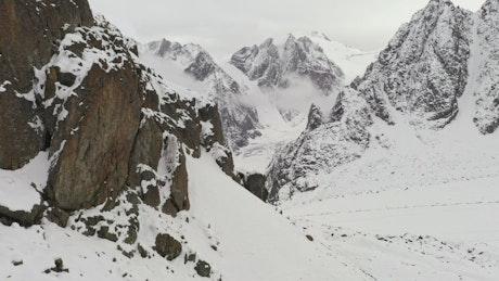 Aerial flight through Himalayas