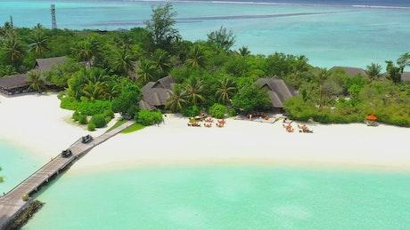 Aerial shot of a paradise island