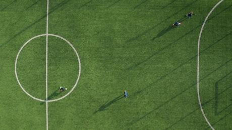 Aerial shot of a Soccer match