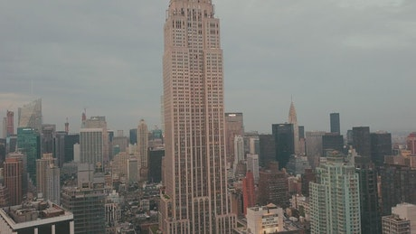 Aerial shot of the Empire State Building