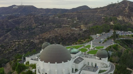 Aerial shot of the Griffith Observatory