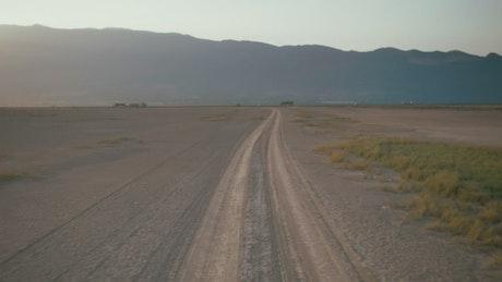 Aerial tour above a desert plane