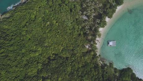 Aerial view of a beautiful seashore