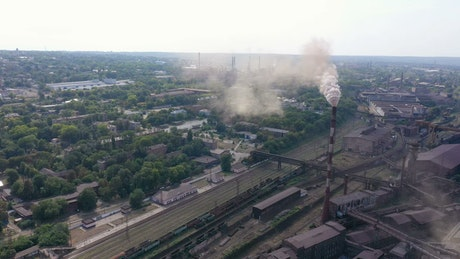 Aerial view of an industrial complex