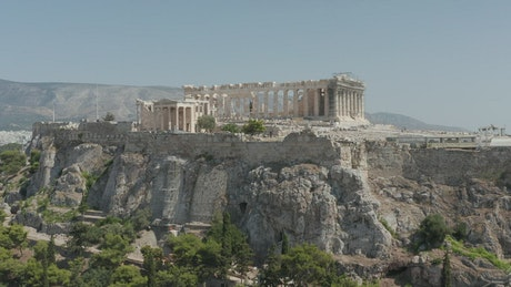Aerial view of Athens ruins