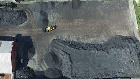 Aerial view of coal factory