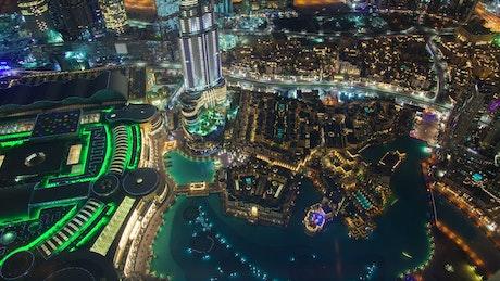 Aerial view of Dubai downtown