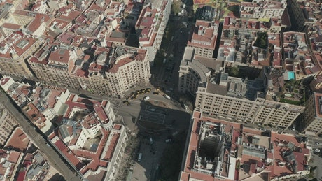 Aerial view of intersection of avenues in Spain