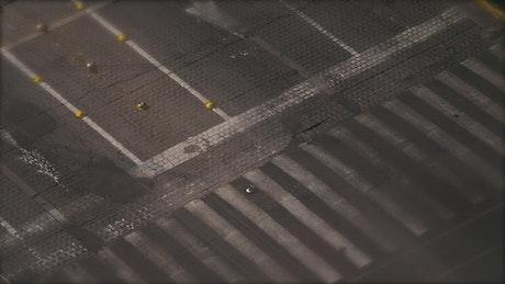 Aerial view of people at pedestrian crossing