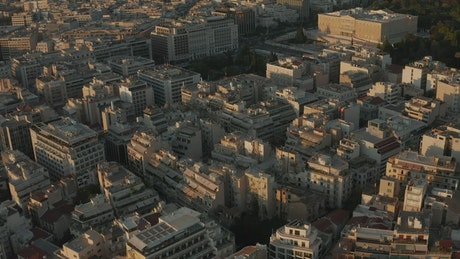 Aerial view of The Hellenic Parliament in Athens