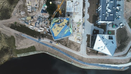 Aerialview of a construction site