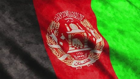 Afghanistan flag waving
