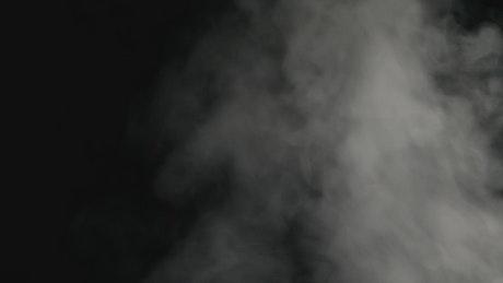 Aggressive smoke on a black background