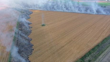 Agricultural burning fields