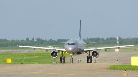 Aircraft heading to the runway