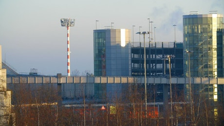 Airport train in Dusseldorf