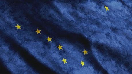 Alaska State waving flag texture