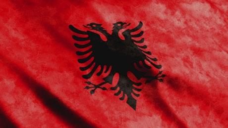 Albania flag, Animation in full screen