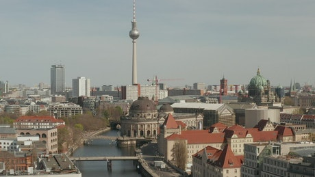 Alexanderplatz seen from tower from river Spree