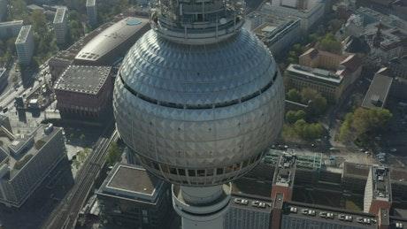 Alexanderplatz TV Tower, aerial high view