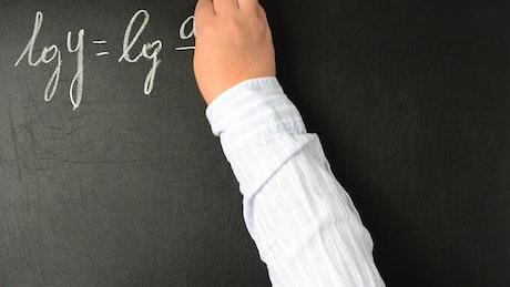 Algebra class, blackboard view