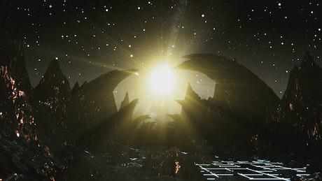 Alien world, 3D animation