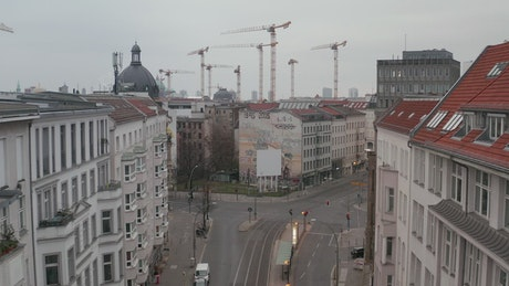 Almost empty neighborhood in the city of Berlin