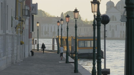Along the river in Venice