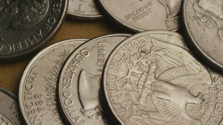 American coins rotating