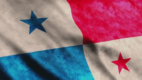 American flag of Panama in 3D