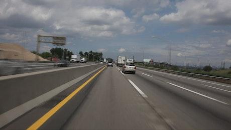 American trucks on a highway