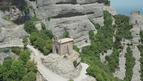 An ancient temple on a mountain