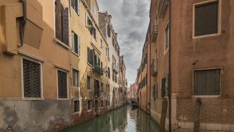 An empty canal in Venice
