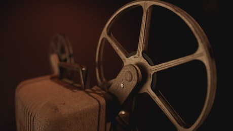 An old film device spinning