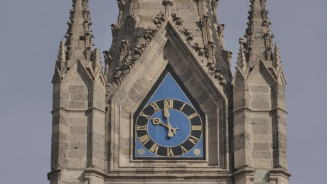 Analog clock on a church tower