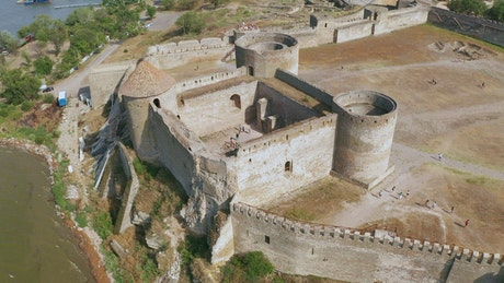 Ancient castle from above