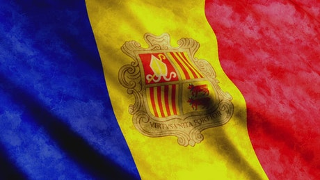 Andorra country flag