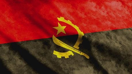 Angola flag in full screen, 3D render
