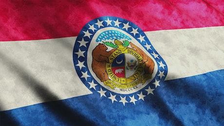 Animation fo a Missouri flag